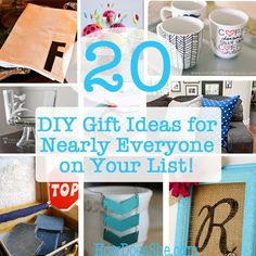 20 DIY Gift Ideas for Nearly Everyone on your List! | How Does She