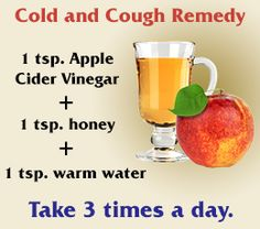 Benefits of apple cider vinegar Saw a lot of different ways to come up with cough remidies but I happen to have this stuff on hand. My boyfriend was about to cough up a lung while he was trying to sleep. It hurt me to see him hurt like that. Made him a shot of this and he hasn't coughed since. Sleeping peacefully