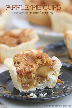Apple Pie Cups with Cinnamon Streusel Topping