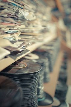 #InspireCaribou vinyls, old records, oldies but goodies, disco, vintage music, bangs, box, record collection, tap