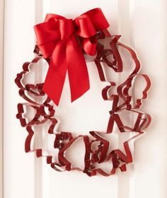 Create a fun Christmas wreath with inexpensive cookie cutters. Click for instructions.