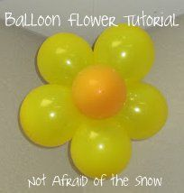 easi parti, parti decor, flowers balloons, balloon flower