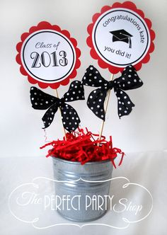 Graduation 3 inch Centerpiece Stick (QTY 1)