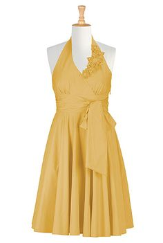 #yellow #bridesmaids #dress, #eshakti