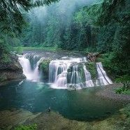 Lower Lewis River Falls @ Gifford Pinchot Nat'l Forest, Washington, USA
