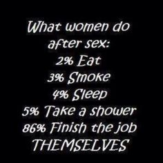What women do after sex... LOL!