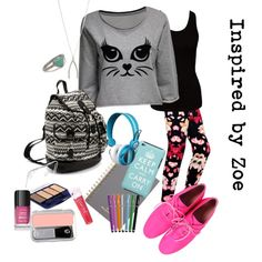 """Tween Fashion - Back To School (Inspired by Zoe)"" by lmgrisez on Polyvore"