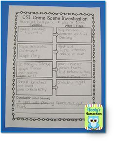 Teaching inferences with a CSI investigation! Fun!