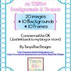 Polka Dot Outline Set includes 20 images!*10 backgrounds and 10 coordinating frames!