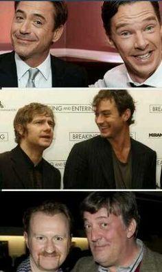 Sherlock & Sherlock, John & John, Mycroft & Mycroft.