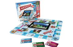 Monopoly + iPad - has cute games for chance and community chest. Can play a quick game with students and have them work on language or speech goals after each turn.