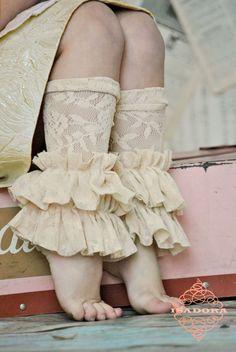 Lace Ruffle Leg Warmers