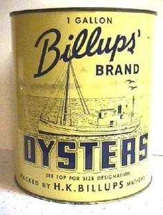Billups Brand Oyster Tin