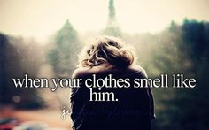 relationship, pillow, gir thing, his smell, heart