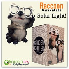 Gardentude Solar Light - Raccoon http://karmakiss.net/en/special-gifts/eco-friendly-gifts/gardentude-solar-light-raccoon.html