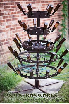 Vintage French Hérisson Bottle Drying Rack by AspenIronworks, $1100.00