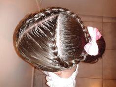 Peinado para niña Trenzas encontradas