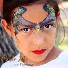 Vanessa Mendoza || one stroke maleficent mask