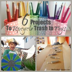 Are you constantly looking for creative projects for your kids? Discover 6 creative projects you can make with recyclables found in your hom...