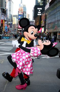 Mickey Mouse & Minnie Mouse.