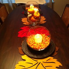 Dining room table decor for this fall