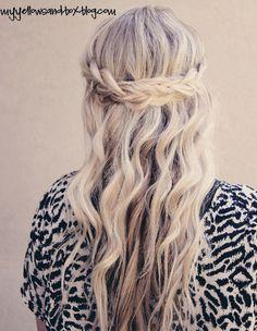 french braids, wavy hair, long hair, wedding hairs, hair style
