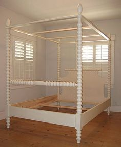 Spindle Canopy Bed