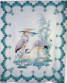 The Cranes, 1934. Made by Hannah Haynes Headlee. Topeka, Kansas.