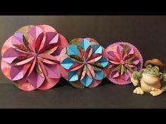 Tutorial. Flores de papel 3D. Flower 3D.