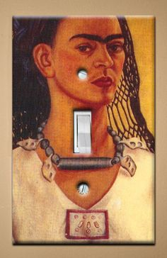 Frida Kahlo   Golden  Single Light Switch by christinafajardoart, $7.00