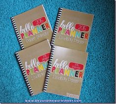 Creating 4 different planners