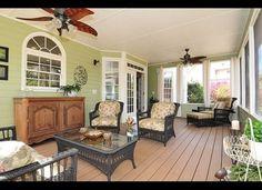 paint colour for the sunroom Green Sunroom, Green Wall, Outdoor Space, Design Inspir, Gorgeous Sunroom, Hous, Porch, Sun Room, Florida Room