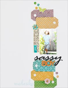 Cute page by Waleska Neris using @Studio Calico paper! great lineage!
