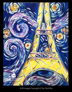 Starry Eiffel Tower Painting - Jackie Schon, The Paint Bar
