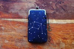 Personality iPhone Case Embroidery constellation  by lazydoll, $34.90