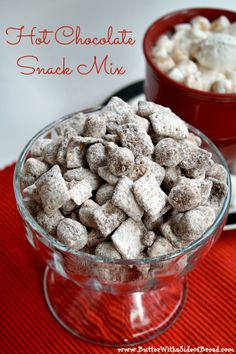 Hot Chocolate Snack Mix - There is hot chocolate mix in this recipe and the results are soooo yummy!  Butter With a Side of Bread #recipe