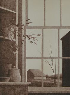 """""""Afternoon (Small)""""  Color lithograph 1971 by Robert Kipniss"""