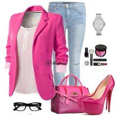 pink pink pink, fashion, outfit, luv pink