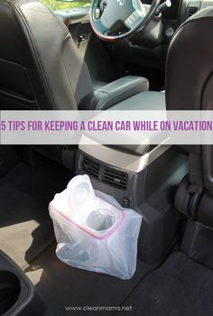 5 Tips for Keeping a Clean Car While On Vacation- A Bowl Full of Lemons