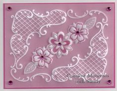 Sweet Stamps- DT Sandy H parchment craft, stamp, challenges, cakes, shade, parchment card, cake designs, paper cards, parchment paper