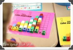 First Grade Blue Skies: Staircase freebie for math