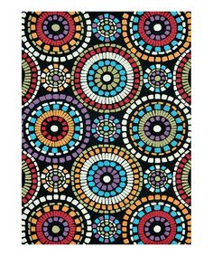 Take a look at this Black Circles Aurora Rug by Loloi Rugs on #zulily today!