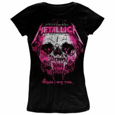 "Official Skinny Metallica ""Wherever I May Roam"" 90s single T-shirt for ladies"