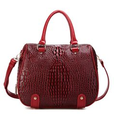 Red Crocodile Ladies Handbag