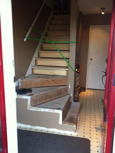 Replacing the stair treads