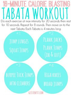 16-Minute Calorie Blasting Workout