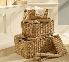Savannah Lidded Baskets #potterybarn
