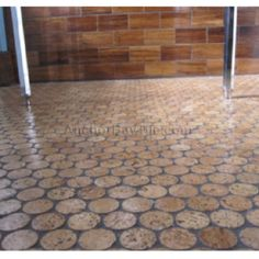 Wine cork floor... Neat idea!