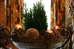 vignette design: A Christmas centerpiece