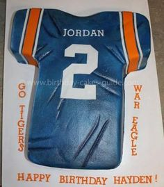 Football Jersey Cake-- of course, I would want an Alabama Cake!